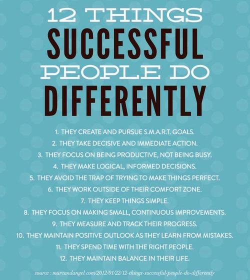 The Top 10 Things Successful People Do To Reach Their