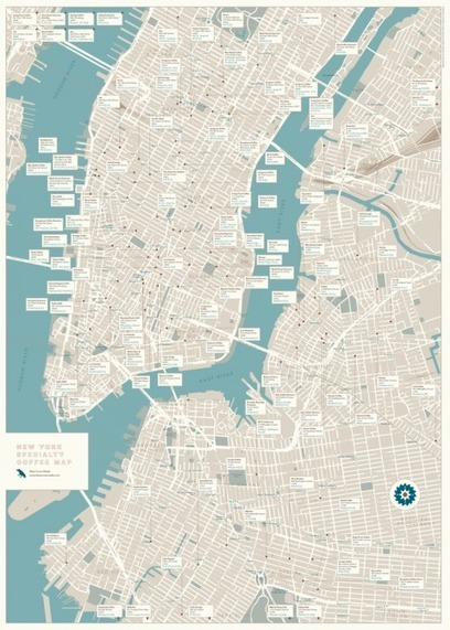 swissmiss | New York Specialty Coffee Map | Curating Mode ! | Scoop.it