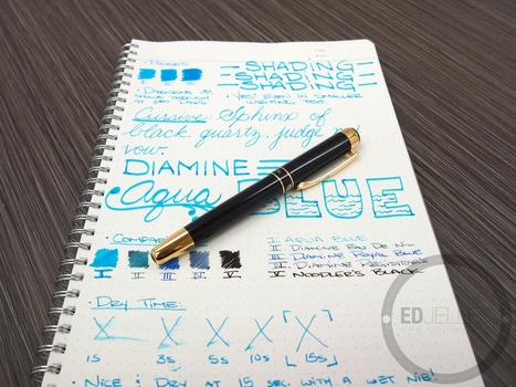 Diamine Aqua Blue - Ink Review | Writing instruments | Scoop.it