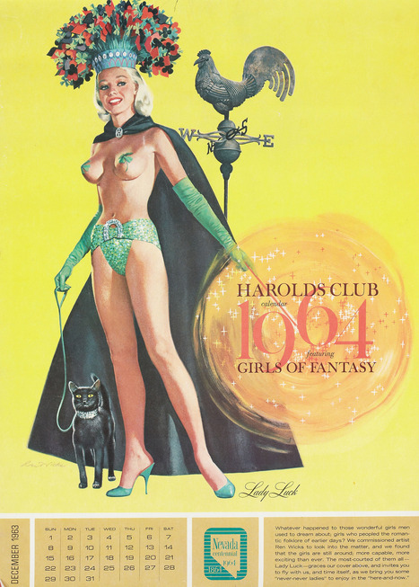 Harold's Club 1964 Calendar Featuring Girls Of Fantasy   Antiques & Vintage Collectibles   Scoop.it