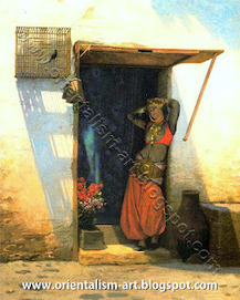 An Almeh at the door, Cairo, 1897 by Jean-Leon Gerome  (French, 1824–1904) | Orientalism | Scoop.it