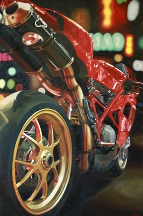 ETSY | Giclee Print of Motorcycle Oil Painting Ducati 1098 | GarneyGirl | Guenevere Schwiens | Ductalk Ducati News | Scoop.it