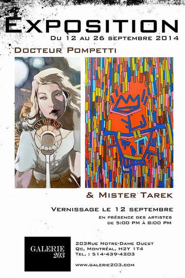 Exposition de Tarek et Pompetti à la Galerie 203 de Montréal | The art of Tarek | Scoop.it
