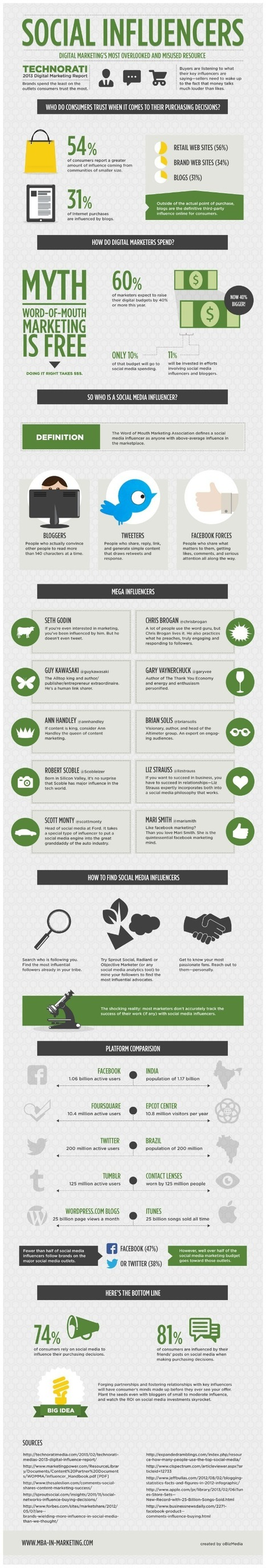 Infographic: Social Influencers - Marketing Technology Blog | The Daily Marketing Gangster | Scoop.it