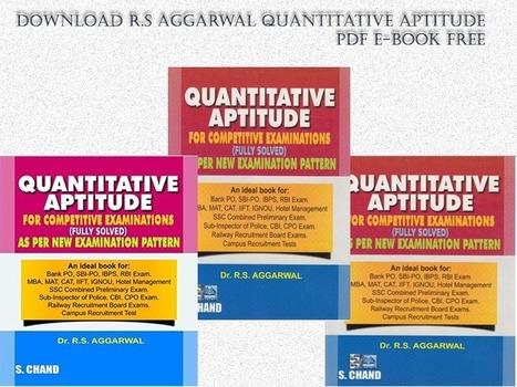 APTITUDE TEST BOOK R S AGGARWAL PDF DOWNLOAD
