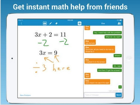 MathChat App Allows Students to Collaborate on Math Homework ~ Educational Technology and Mobile Learning | 21st Century Concepts Math | Scoop.it