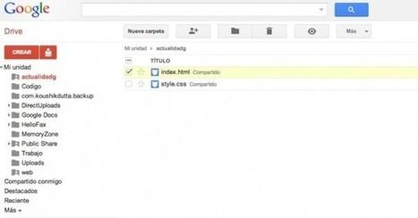 Como crear tu página web utilizando Google Drive como servidor | informaticaa | Scoop.it