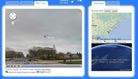 Tracking Satellites in Google Earth | Google Earth Blog | Spatial in Schools | Scoop.it