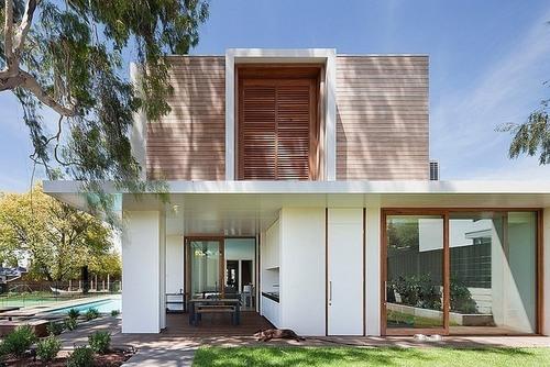 Maison contemporaine bois béton par Robert Mills Architects ...