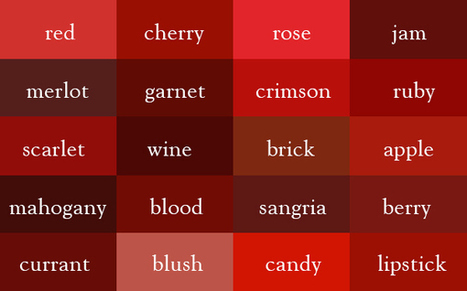 """It's """"Wine"""", Not Dark Red – Here Are The Correct Names Of All Color Shades   xposing world of Photography & Design   Scoop.it"""