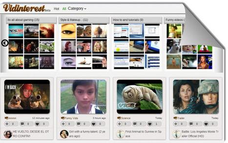 Vidinterest, guardar y organizar videos al estilo Pinterest.- | Antonio Galvez | Scoop.it