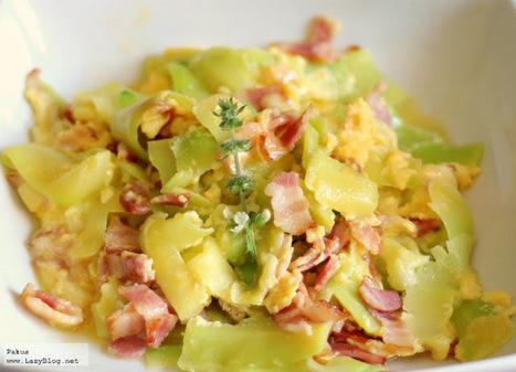 Lazy Blog: Calabacines a la carbonara. Receta sin gluten ni lactosa | Gluten free! | Scoop.it