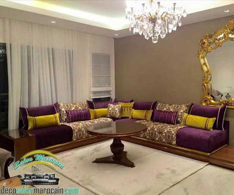 salon marocain moderne, canapé marocain decor\' in Caftan ...