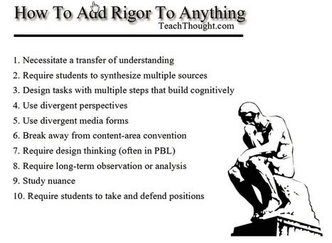 How To Add Rigor To Anything | Middle  School  English and Reading | Scoop.it