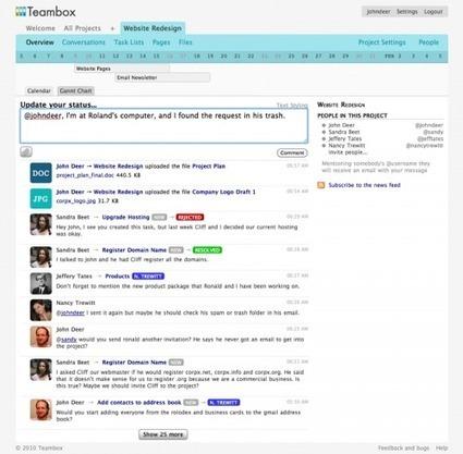 TeamBox, un webware de collaboration à la sauce Twitter | Websourcing.fr | La crème du Scrum ! | Scoop.it
