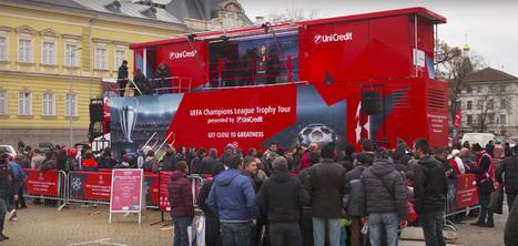 Un camion interactif qui vous immerge dans l'ambiance de la Champions League | Habillage Urbain | Scoop.it