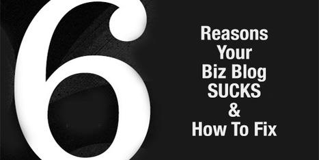 6 Reasons Your Biz Blog Sucks & How To Fix | Curation Revolution | Scoop.it