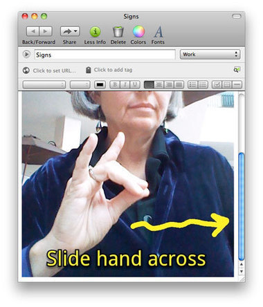 Using Evernote and Skitch Together for Learning and Practicing Sign Language | AssistiveTechnology | Scoop.it