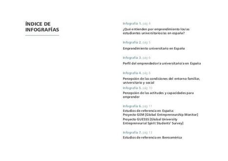 Perfil emprendedor del estudiante universitario. Infografías CRUE. Observatorio emprendimiento universitario | Pedalogica: educación y TIC | Scoop.it