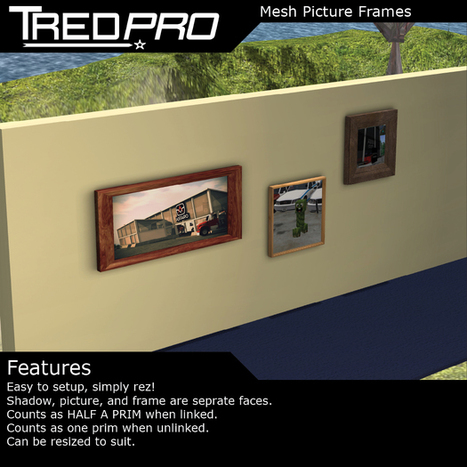 Mesh Picture Frames by Tredpro | Teleport Hub | Second Life Freebies | Scoop.it