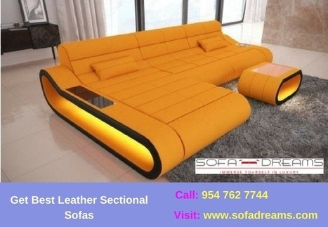 Get Best Leather Sectional Sofas | Sofa dreams ...