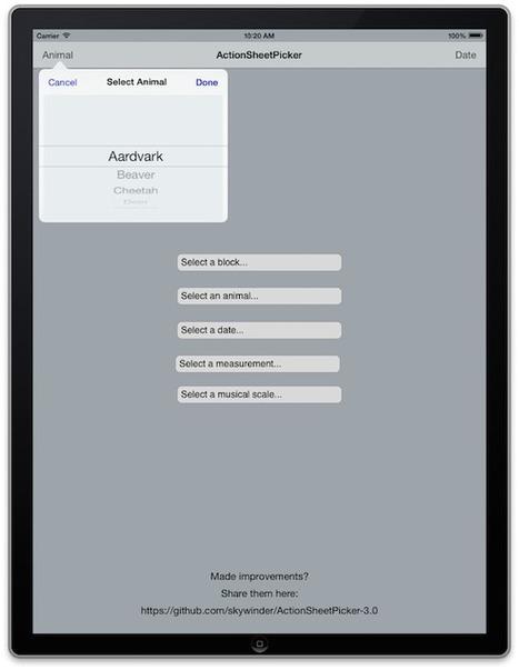skywinder/ActionSheetPicker-3.0 | iOS Development: Tools and Tips | Scoop.it