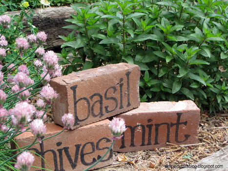Brick herb markers | Up Cycled Garden | Scoop.it