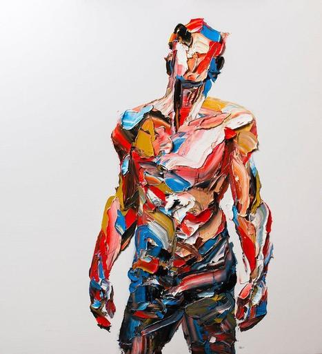 Enormous #Palette #Knife #Portraits and #Figures by Salman Khoshroo. #art #painting #colour #impasto | Luby Art | Scoop.it