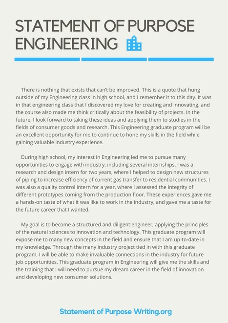 Sample statement of purpose engineering | state.