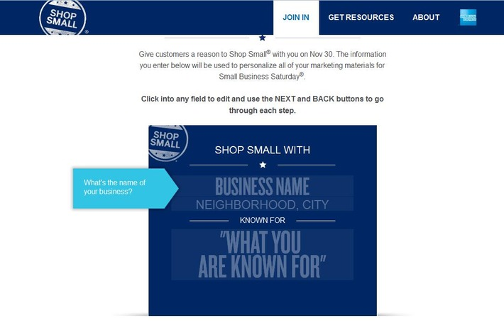 Sign up for Free Shop Small marketing materials - American Express OPEN | Consumption Junction | Scoop.it