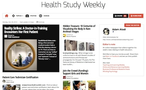 Oct 29 - Health Study Weekly is out | Health Studies Updates | Scoop.it