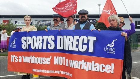 Sports Direct staff 'not treated as humans', says MPs' report - BBC News   Employment Law   Scoop.it