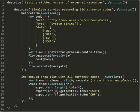 AngularJS–Part 15, End to end tests and mocking   Gabriel ...   AngularJS   Scoop.it