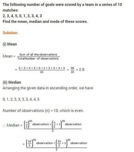 NCERT solutions for class 9 maths chapter-14 St