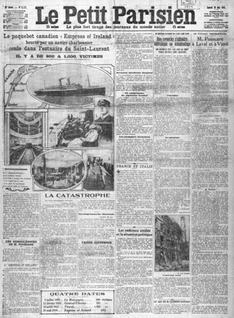 Le 29 mai 1914, le paquebot RMS Empress of Ireland... - Yvon Généalogie | Auprès de nos Racines - Généalogie | Scoop.it
