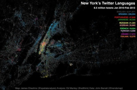 Mapped: Twitter Languages in New York | informational landscapes | Scoop.it