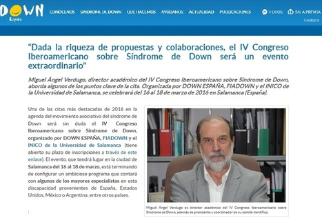 IV Congreso Iberoamericano sobre Síndrome de Down, un evento extraordinario | Sindrome de Down | Scoop.it