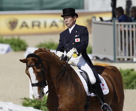Le plus vieil athlète des JO est un cavalier japonais | SportsMadison.com | Sports équestres | Scoop.it