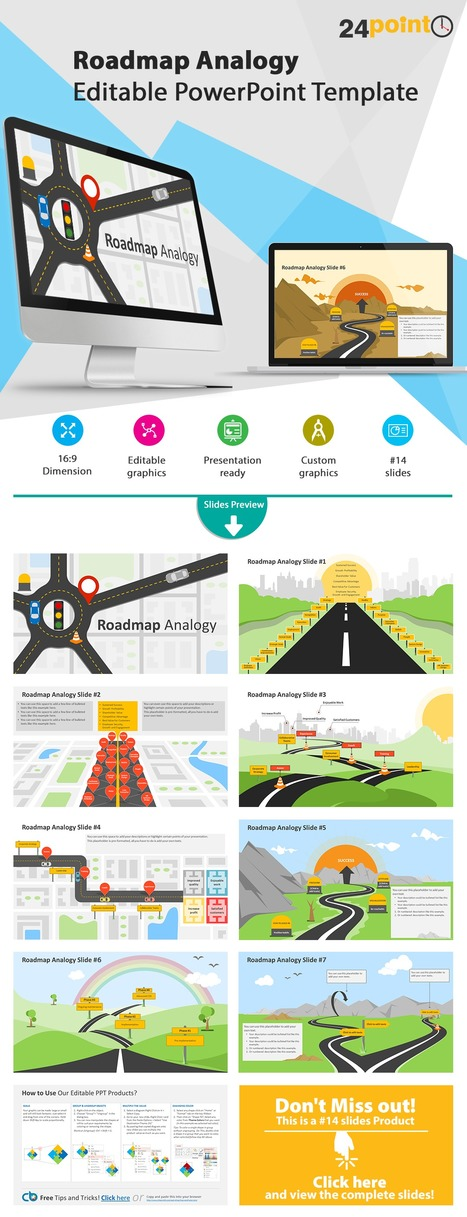 Roadmap Analogy - Editable PowerPoint Template | PowerPoint Presentation Tools and Resources | Scoop.it