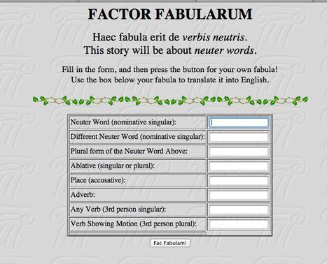 FACTOR FABULARUM: de verbis neutris | DICCCIONARIOS | Scoop.it