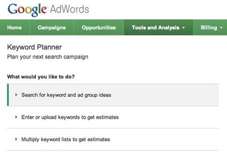 AdWords Keyword Planner : outil de planification de mots-clés | Curation SEO & SEA | Scoop.it