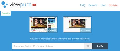ViewPure. Les vidéos de Youtube et seulement les vidéos | TUICE_Université_Secondaire | Scoop.it