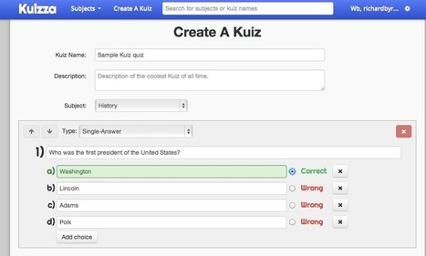 Free Technology for Teachers: Kuizza - Online Flashcards and Quizzes   Outils FLE   Scoop.it