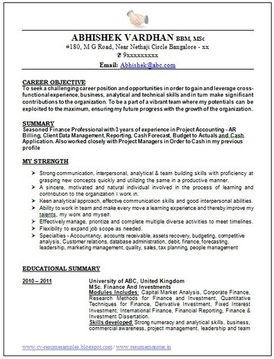 Over  Cv  Resume Samples With Free Do