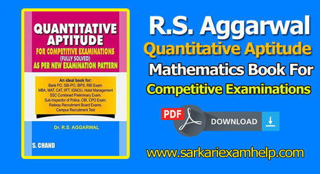 Rs Aggarwal Mathematics Pdf