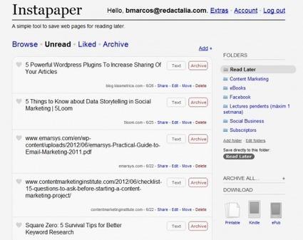 5 herramientas para gestionar contenidos con eficacia | Social Media Blog. Marketing online y redes sociales. | Aprendizaje en Red | Scoop.it
