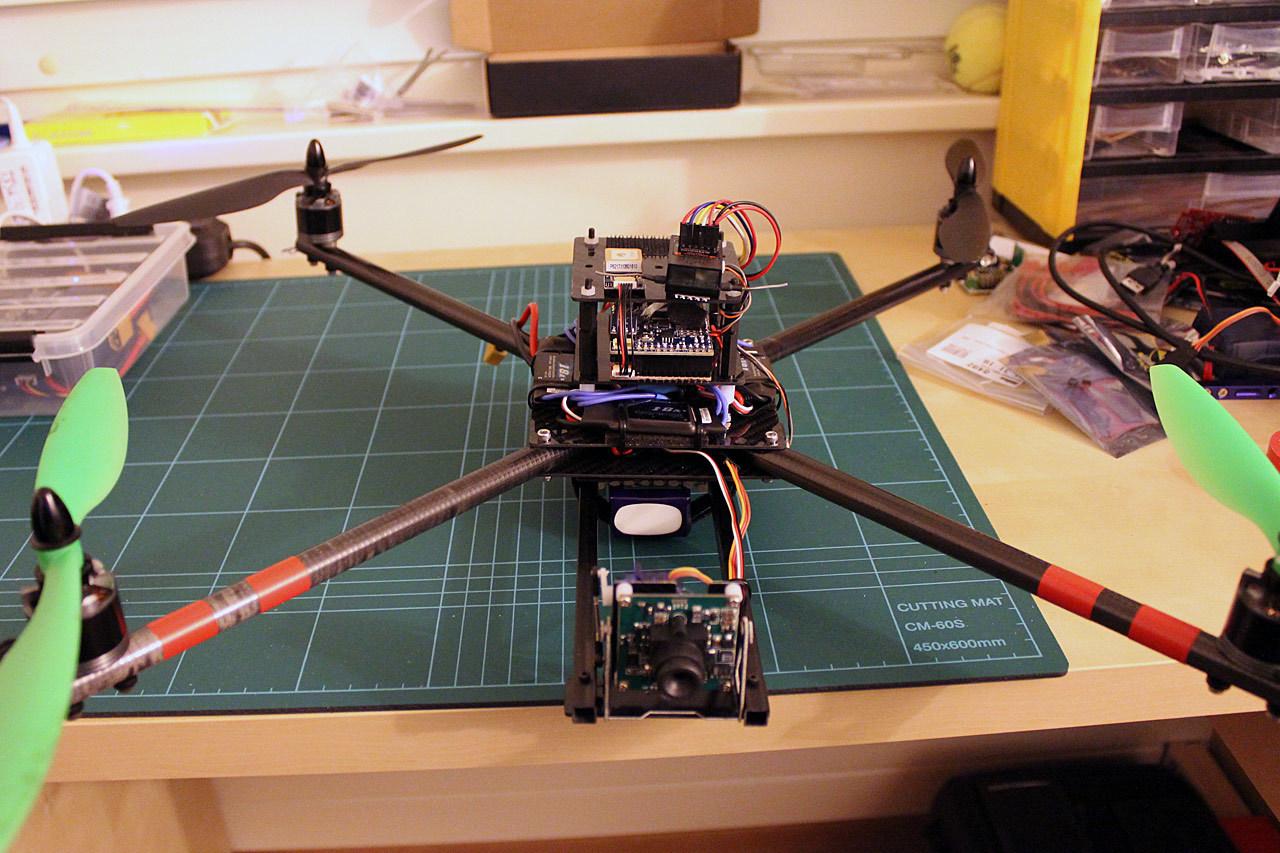 Arducopter quad carbon frame diy build dr