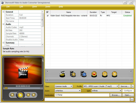 Convertire Video In Audio: 3herosoft Video to Audio Converter (Win) | ConvertireVideo | Scoop.it