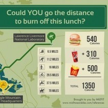 Could YOU go the distance to burn off this lunch | Visual.ly | The Doctors Place | Scoop.it