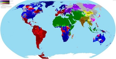 World Religion Map | Spatial literacy | Scoop.it
